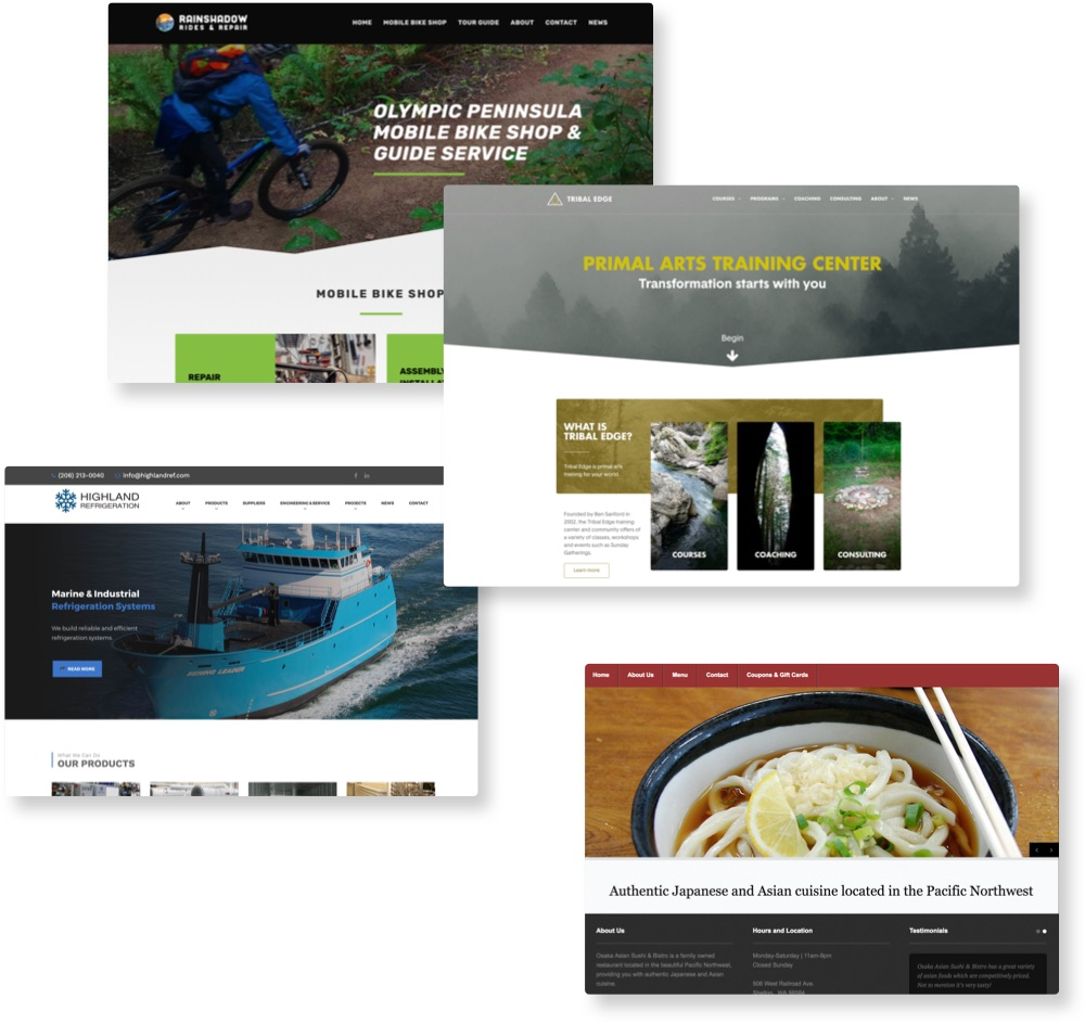 Olympic Peninsula and Kitsap Website Design | Zach Taiji